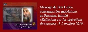 Message de Ben Laden sur l'aide humanitaire au Pakistan