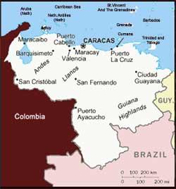carte du Vénezuela