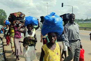 Les populations d'Abobo ont fui les combats ©Irin