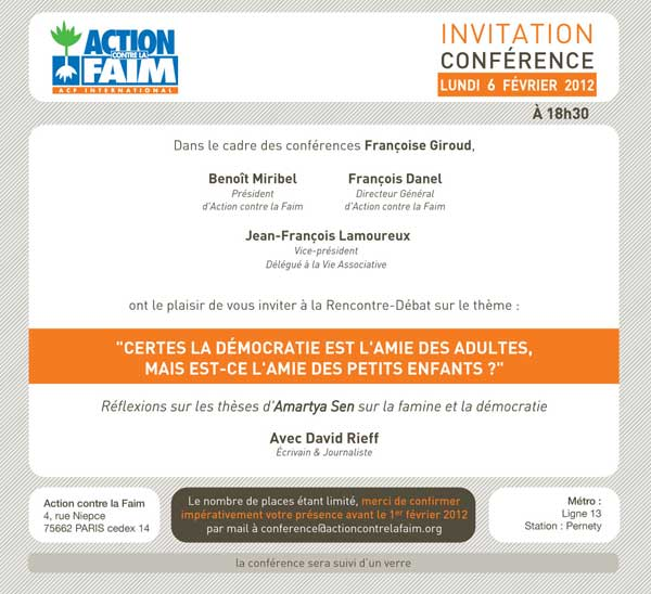 invitation conference acf fevrier 2012