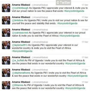 Les messages du Premier ministre ougandais, Amama Mbabazi