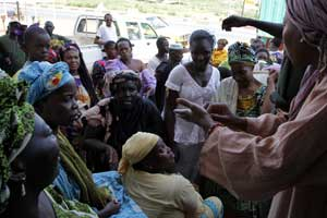 Distribution de denrées alimentaires à Bamako