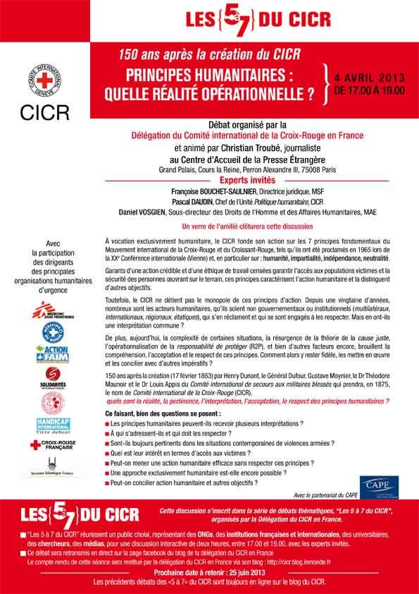 debat 5 à 7 CICR 4 avril 2013
