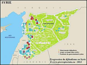 Progression du djihadisme en Syrie