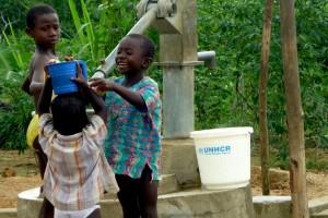 Enfants en camps de réfugiés (Côte d'Ivoire)