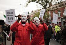 Manifestation pour la fermeture du centre de détention de Guantanamo