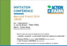 Conférence ACF nourrir l'humanité