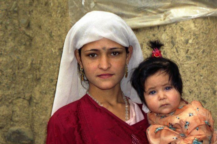 Jeune mère Afghane