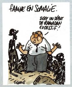 caricature du monde d'humanitaire