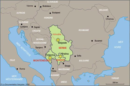 Carte de la Yougoslavie avant l'éclatement